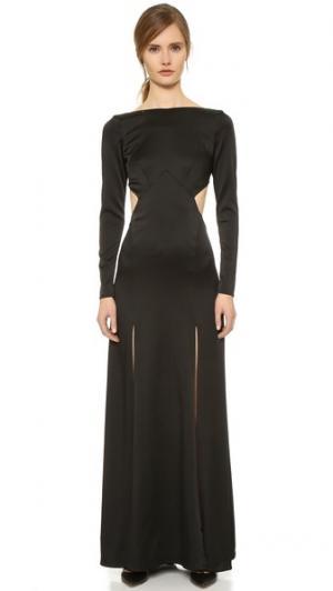 Платье Madena с разрезами Temperley London. Цвет: голубой