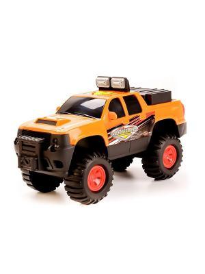 Машина  Джип свет+звук . TOYSTATE. Цвет: оранжевый