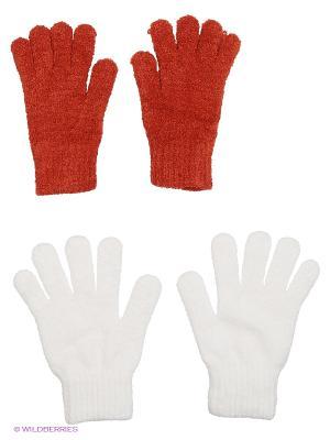 Перчатки - 2 пары FOMAS. Цвет: белый, терракотовый