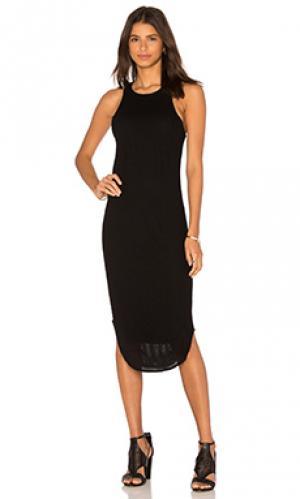 Сеточное миди платье Bella Luxx. Цвет: черный
