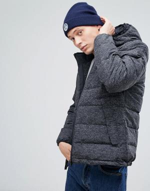 North Sails Черная дутая куртка с двойным капюшоном HiViz. Цвет: черный