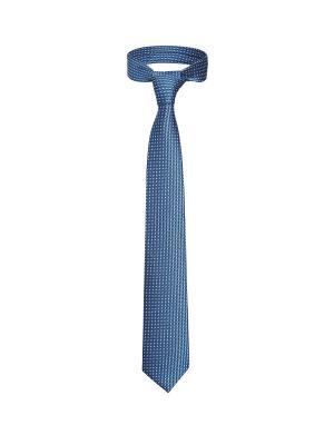 Классический галстук По улицам Нью Йорка с модным принтом Signature A.P.. Цвет: голубой, белый, черный