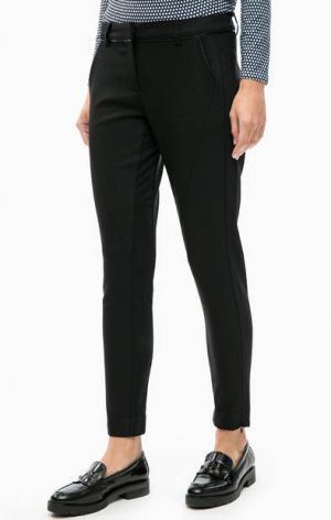 Укороченные черные брюки LERROS. Цвет: черный