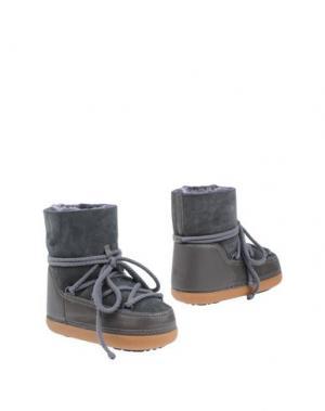 Полусапоги и высокие ботинки IKKII. Цвет: свинцово-серый