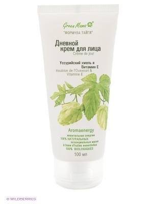 Дневной крем для лица Уссурийский хмель и витамин Е Green mama. Цвет: белый