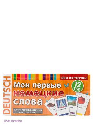 Карточки. Мои первые немецкие слова. 333 карточки для запоминания АЙРИС-пресс. Цвет: оранжевый