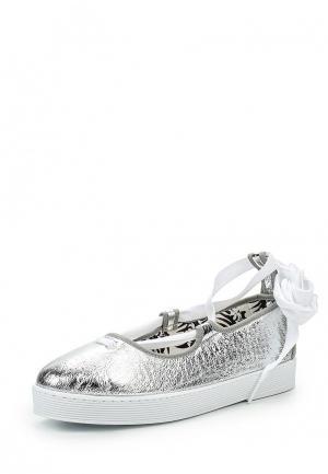 Туфли Flossy Style. Цвет: серебряный