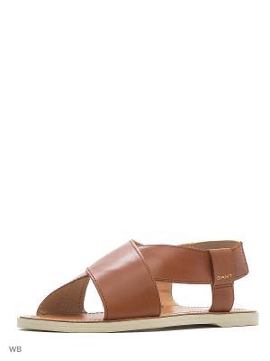Сандалии GANT. Цвет: коричневый