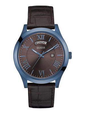 Часы GUESS. Цвет: синий, коричневый