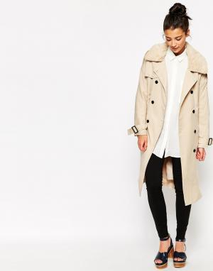 The WhitePepper Классическое легкое пальто. Цвет: бежевый