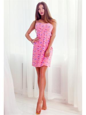 Ночная сорочка Анатель. Цвет: светло-коралловый, розовый
