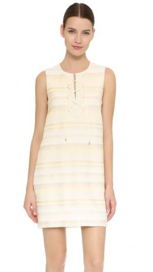 Свободное платье со шнуровкой Tess Giberson. Цвет: мел