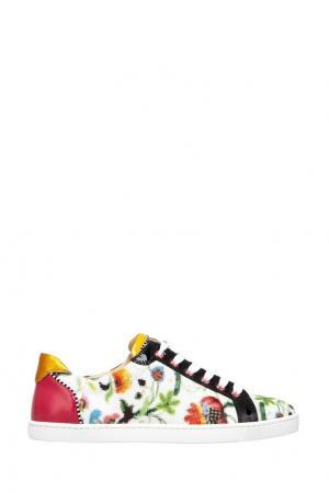 Кожаные кеды Seava Woman Christian Louboutin. Цвет: разноцветный