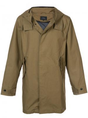 Пальто с капюшоном Saturdays Nyc. Цвет: коричневый