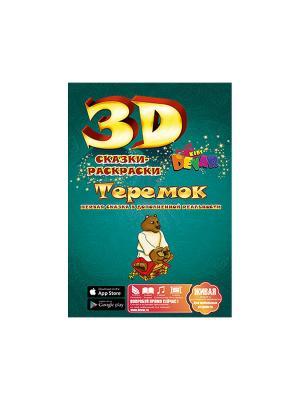 Сказка-раскраска Теремок, А4 мягкая обложка DEVAR kids. Цвет: зеленый