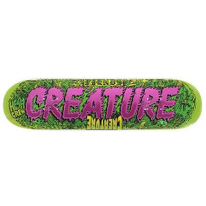 Дека для скейтборда  S5 Team Md Comics 31.7 x 8.25 (21 см) Creature. Цвет: зеленый,фиолетовый