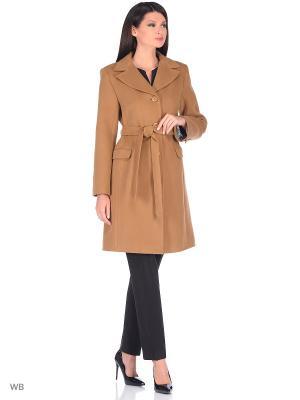 Пальто демисезонное Леди XP-GROUP. Цвет: коричневый