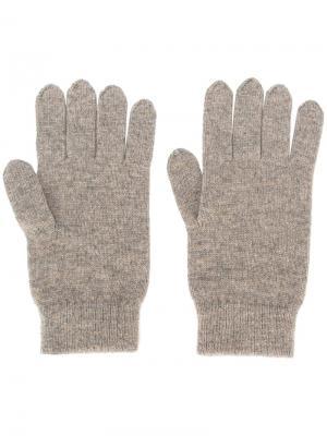 Перчатки ребристой вязки N.Peal. Цвет: телесный