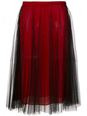 Плиссированная юбка Versace. Цвет: красный
