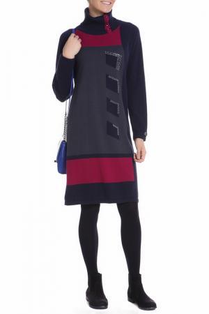 Платье Paola Joy. Цвет: черно-розовый