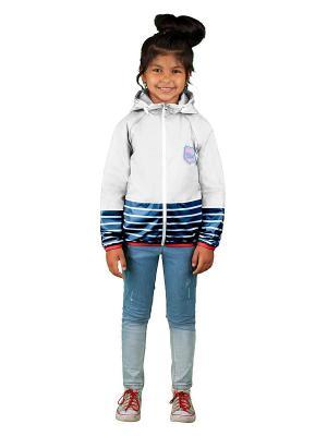 Куртка BOOM. Цвет: темно-синий, белый