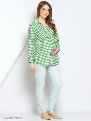 Блуза Gebbe. Цвет: зеленый