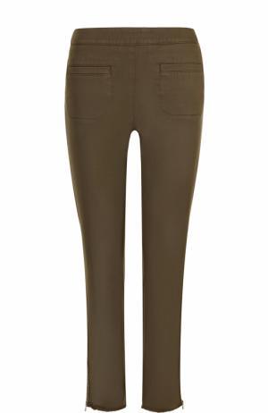 Укороченные однотонные джинсы-скинни Dorothee Schumacher. Цвет: хаки