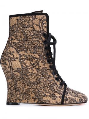 Ботинки на танкетке Alchimia Di Ballin. Цвет: чёрный