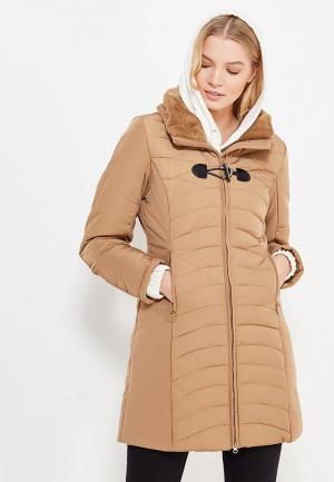 Куртка утепленная Laura Jo. Цвет: коричневый