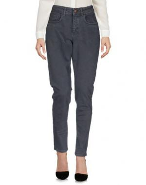 Повседневные брюки DERRIÉRE. Цвет: свинцово-серый