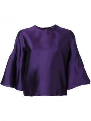 Блузка с расклешенными рукавами Raoul. Цвет: розовый и фиолетовый