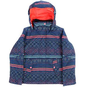 Куртка утепленная детская  Jet Girl Sodalite Blue Roxy. Цвет: мультиколор