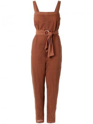 Belted waist dress Andrea Marques. Цвет: коричневый
