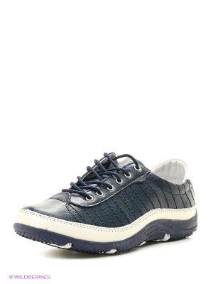 Ботинки ELITE. Цвет: синий, белый