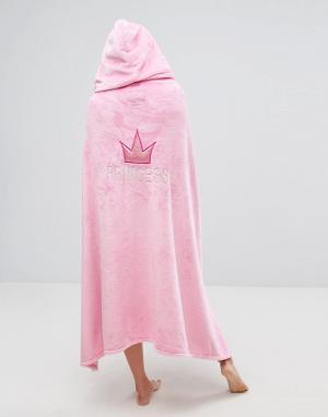 Boux Avenue Накидка с капюшоном Princess. Цвет: розовый