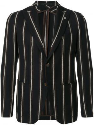 Полосатый пиджак Tagliatore. Цвет: чёрный