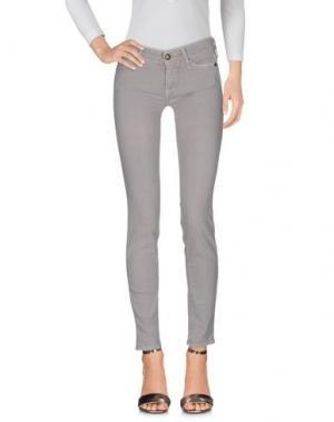 Джинсовые брюки HTC. Цвет: голубиный серый