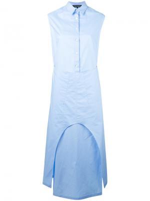 Длинное платье Ter Et Bantine. Цвет: синий