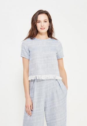 Блуза Maria Golubeva. Цвет: голубой