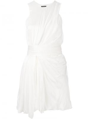 Платье без рукавов Fausto Puglisi. Цвет: телесный