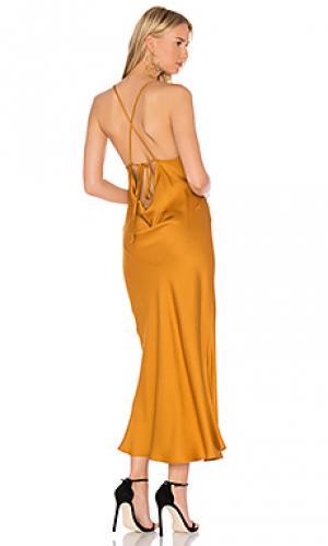 Платье-комбинация trudy Marissa Webb. Цвет: горчичный