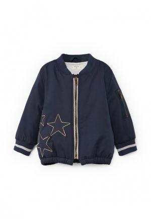 Куртка Mango Kids. Цвет: синий