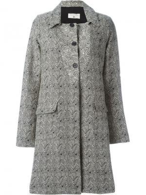 Однобортное пальто Cotélac. Цвет: чёрный