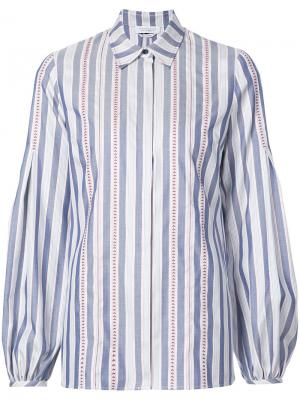 Блузка на пуговицах Gabriela Hearst. Цвет: синий