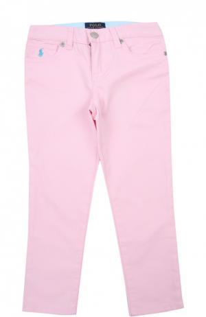 Брюки Polo Ralph Lauren. Цвет: розовый
