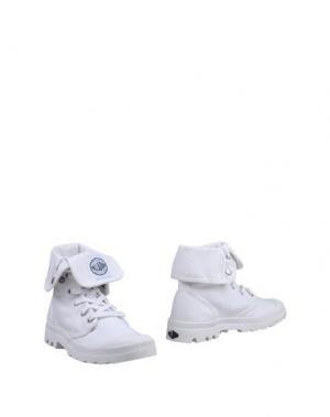 Полусапоги и высокие ботинки PALLADIUM. Цвет: белый