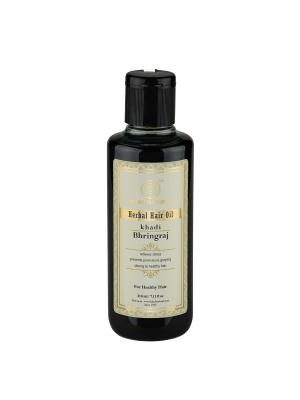 Масло Брингарадж для роста волос Khadi Natural. Цвет: темно-зеленый