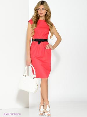 Платье Pompa. Цвет: малиновый