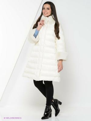 Куртка EVACANA. Цвет: молочный