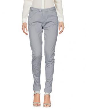 Повседневные брюки BONHEUR. Цвет: светло-серый